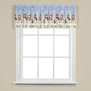 Winter Wonderland Christmas kitchen curtain valance