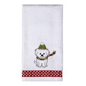 Christmas Puppy Hand Towel