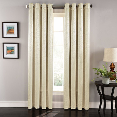 Aurora Grommet Top Curtain Panel - Beige