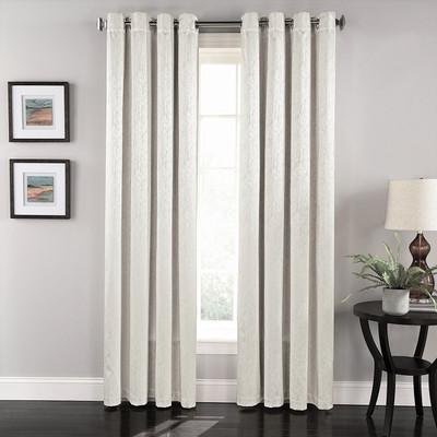 Aurora Grommet Top Curtain Panel - White