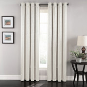 Aurora Grommet Top Curtain Panel - White