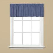 hopscotch kitchen curtain valance denim blue from saturday knight on
