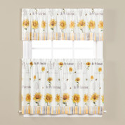Sunflowers & Honey Bees Kitchen Curtain