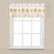Sunflowers & Honey Bees kitchen curtain valance