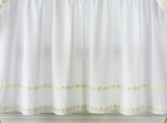 "Daisy Mae 24"" kitchen curtain tier - Yellow"