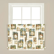 """Nature's Hope kitchen curtain 24"""" tier from Saturday Knight"""