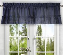 Stacey kitchen curtain valance - Navy Blue
