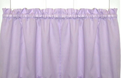 "Stacey 36"" kitchen curtain tier - Lilac"