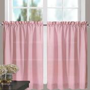 """Stacey 24"""" kitchen curtain tier - Blush"""