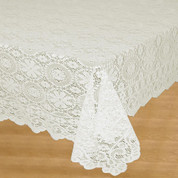 Hopewell Lace Tablecloth 58x84 - Cream