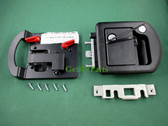 Bauer RV Motorhome Trailer | 060-1650 | Entry Door Lock Black 60-650