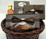 Chocolate Gift Basket with Fudge Sampler, Truffle Assortment, Almond Toffee, and Pure Maple Syrup