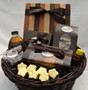 Gourmet Chocolate Gift Basket with Fudge, Toffee, Caramels, Truffles, Maple Syrup, Cutting Board, Ho!ey, and Chocolates!