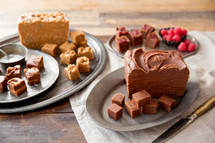 Free Slice of Fudge with any July 4th Party Sampler