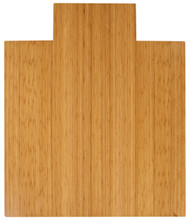 """Bamboo Deluxe Roll-Up Chairmat, 44"""" x 52"""", with lip - Natural"""