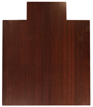 """Bamboo Deluxe Roll-Up Chairmat, 44"""" x 52"""", with lip - Dark Cherry"""