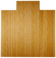 """Bamboo Deluxe Roll-Up Chairmat, 55"""" x 57"""", with lip - Natural"""