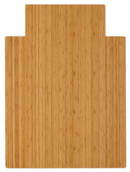 """Bamboo Roll-Up Chairmat, 36"""" x 48"""", with lip - Natural"""