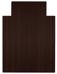 """Bamboo Roll-Up Chairmat, 36"""" x 48"""", with lip - Dark Cherry"""
