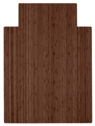 """Bamboo Roll-Up Chairmat, 36"""" x 48"""", with lip - Walnut"""