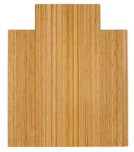 """Bamboo Roll-Up Chairmat, 44"""" x 52"""", with lip - Natural"""
