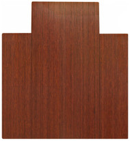 """Bamboo Roll-Up Chairmat, 44"""" x 52"""", with lip - Dark Cherry"""