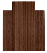 """Bamboo Roll-Up Chairmat, 44"""" x 52"""", with lip - Walnut"""