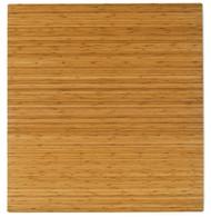 "Bamboo Roll-Up Chairmat, 52"" x 48"", no lip - Natural"