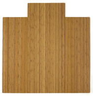 """Bamboo Roll-Up Chairmat, 55"""" x 57"""", with lip - Natural"""