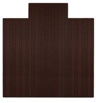 """Bamboo Roll-Up Chairmat, 55"""" x 57"""", with lip - Dark Cherry"""