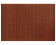 """Bamboo Roll-Up Chairmat, 60"""" x 48"""", no lip - Dark Cherry"""