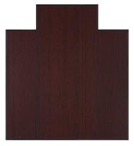 "Bamboo Tri-Fold Plush Chairmat, 47"" x 51"", with lip - Dark Cherry"