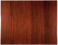 "Bamboo Tri-Fold Plush Chairmat, 47"" x 60"", no lip - Dark Cherry"