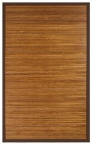Contemporary Chocolate Bamboo Rug - 4' x 6'