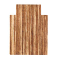 """Strand-Woven Bamboo Roll-Up Chairmat, 36"""" x 48"""", with lip"""