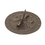 Whitehall Dragonfly Sundial - French Bronze - Aluminum