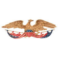 "Whitehall 24""  Patriotic Wall Eagle - Color - Aluminum"