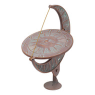 Whitehall Sun and Moon Sundial - Copper Verdigris - Aluminum