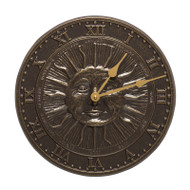 Whitehall Sunface Clock - French Bronze - Aluminum