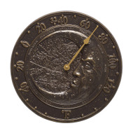 Whitehall Moon Thermometer - French Bronze - Aluminum