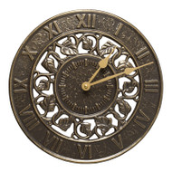 Whitehall Ivy Silhouette Clock - French Bronze - Aluminum