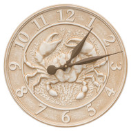 Whitehall Crab Sealife Clock - Limestone - Aluminum