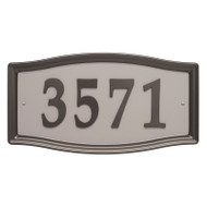 Whitehall Easy Street Address Sign - Aged Bronze - Stamped Steel
