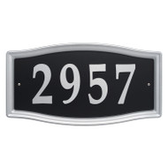 Whitehall Easy Street Address Sign - Nickel  - Stamped Steel