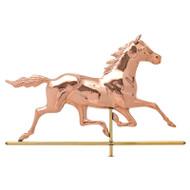 Whitehall Copper Horse Weathervane - Polished - Copper
