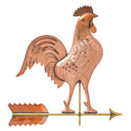 Whitehall Copper Rooster Weathervane - Polished - Copper