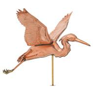 Whitehall Copper Heron Weathervane - Polished - Copper