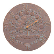 Whitehall Times And Seasons Thermometer - Copper Verdigris - Aluminum