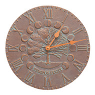Whitehall Times & Seasons Clock-Copper Verdigris - Aluminum