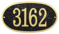 Whitehall Fast & Easy Oval House Numbers Plaque